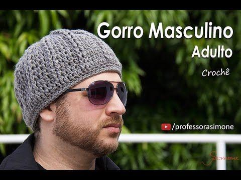 #DESAFIO Gorro de Crochê Masculino Adulto - Professora Simone