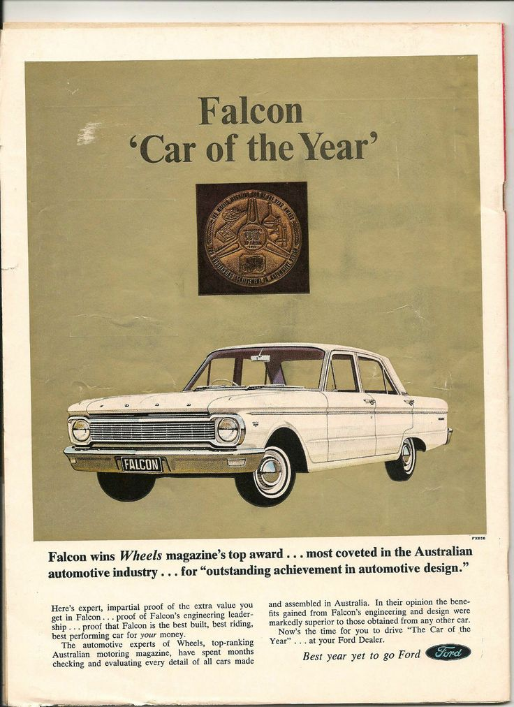Original Vintage 1966 Ford Falcon 'CAR OF THE Year' Australian Color Advert | eBay