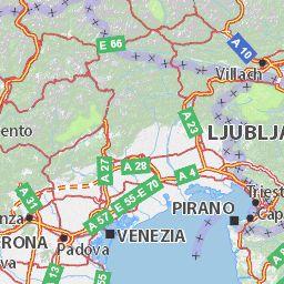 Map of Trentino-Alto Adige - Michelin Trentino-Alto Adige map - ViaMichelin