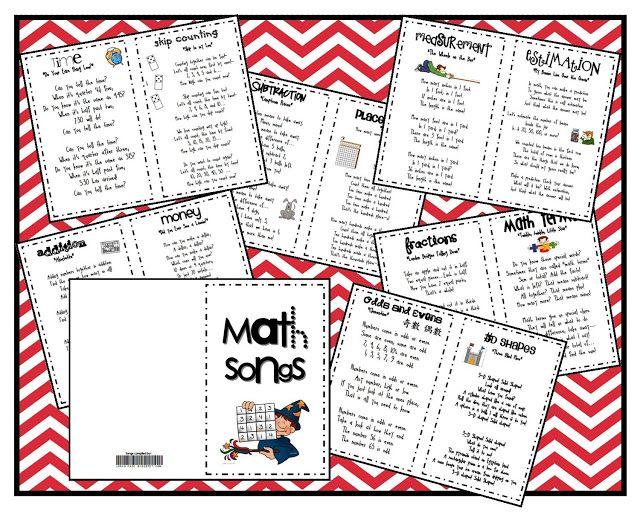Math Songs - FREEBIE - Lorys Page