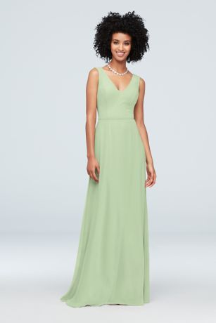 cffb688f19d Chiffon V-Neck Tank Bridesmaid Dress Style F19938