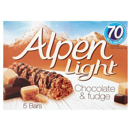 Alpen Light Chocolate And Fudge Bar 5X21g