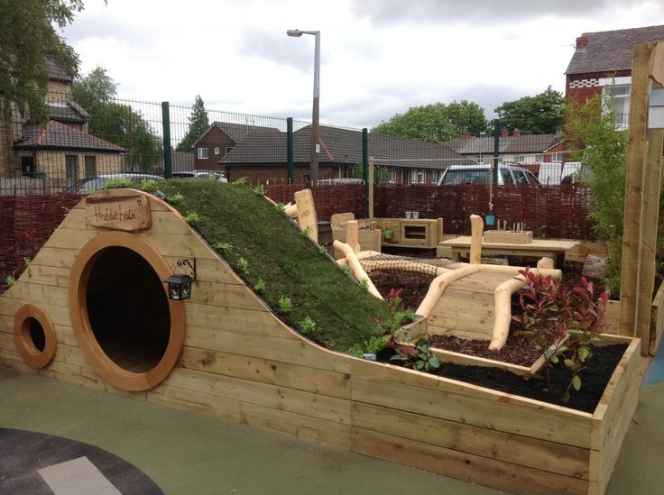 love this natural style playground - Garden Ideas Play Area