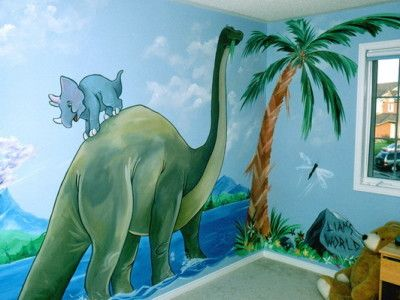 Kids Dinosaur Wall Mural Covering