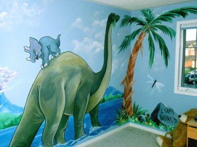 55 best KIDS MURALS images on Pinterest Kids murals, Nursery - dinosaur bedroom ideas