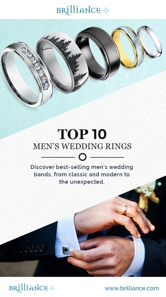 Discover Brilliance.com's Top 10 Men's Wedding Rings!