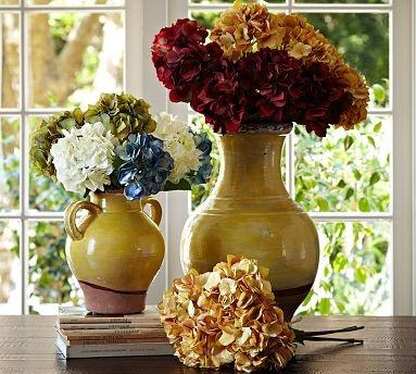 Faux Hydrangea Stem #potterybarn