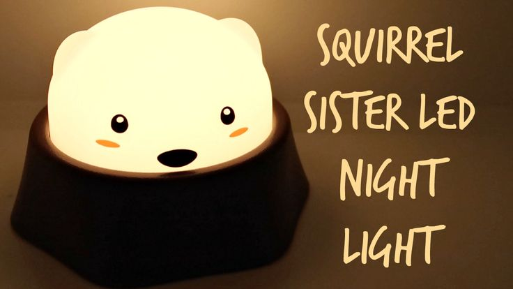 Squirrel Sister LED Night Light