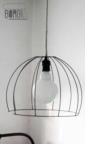 M s de 1000 ideas sobre figuras de herreria en pinterest - Estructuras para lamparas ...