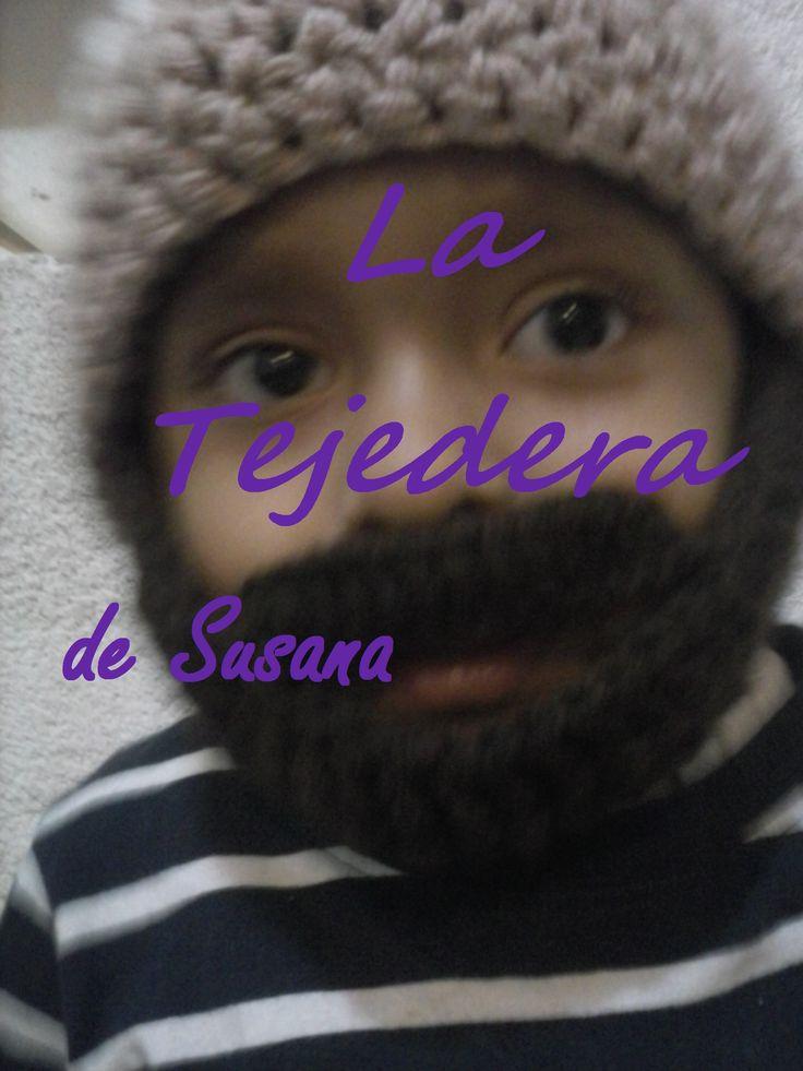 Gorro con barba :) #gorro #barba #ganchillo