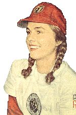 """Dorothy """"Dottie"""" Schroeder - Only girl to play all 12 seasons of the All-American Girls Professional Baseball League (AAGPBL). She was also a three-time All-Star and is considered the top shortstop in the league's history. The movie, A League of Their Own, is based on this story."""