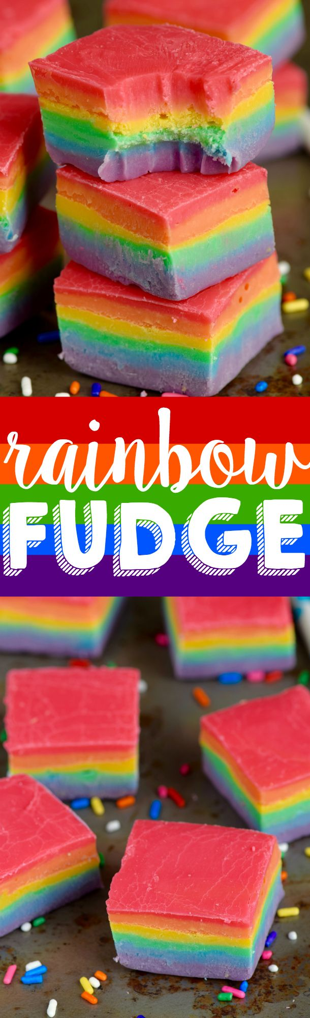 DIY : Rainbow Fudge in the Group Board ♥ CREATIVE and ORIGINAL FOOD (KIDS preferably) http://www.pinterest.com/yourfrenchtouch/creative-and-original-food-kids-preferably