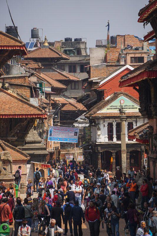 Hustle and bustle of Durbar Square, Patan, Kathmandu