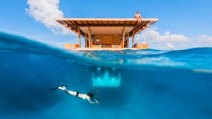 The Underwater Room at The Manta Resort, Tanzania | © Genberg Art UW Ltd/Photo by Jesper Anhede