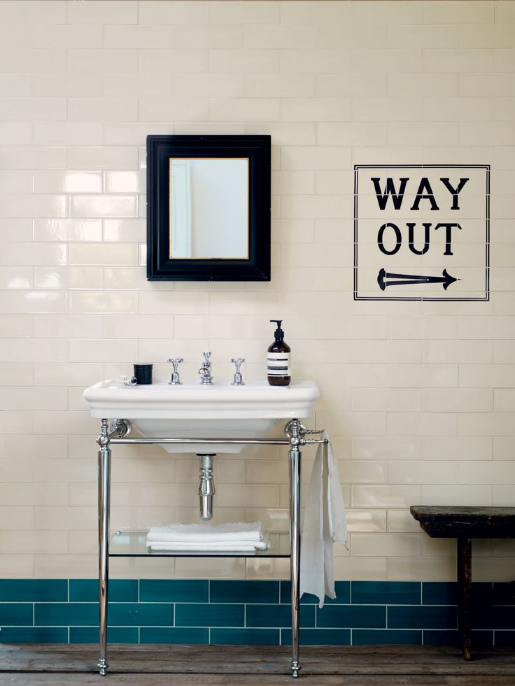 Fired Earth Signage Tiles 'Way Out'