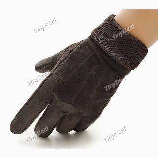 Интернет - магазины : Оригинальные кожаные мужские перчатки, теплые мужс...