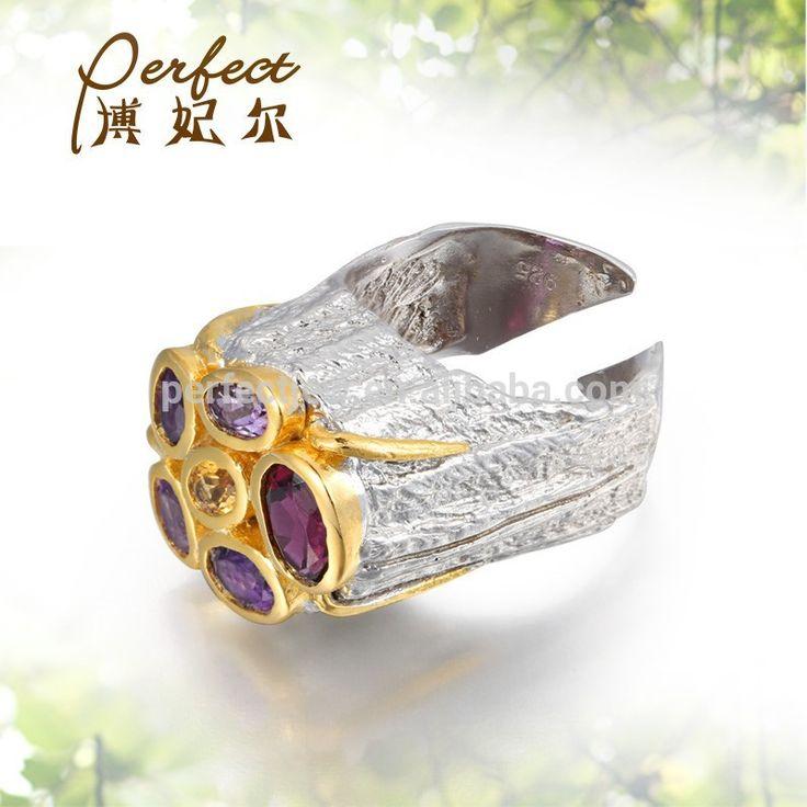 multi-colour stone wholesale silver jewelry ,open silver ring jewelry