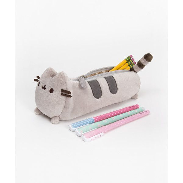 Pusheen the Cat pencil case (19 CAD) ❤ liked on Polyvore featuring home, home decor, office accessories, art, bags, filler, random, cat pencil case, plush pencil case and cat pencil pouch