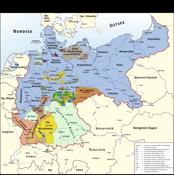 A map of Germany during the time of the play.