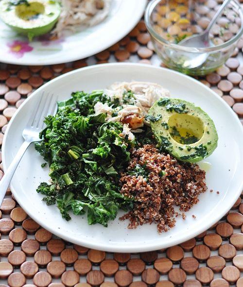 a5fg Kale, Quinoa, Avocado & Roast Chicken Salad