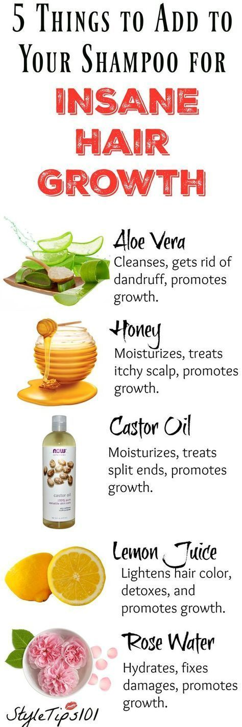 Adding any one of these 5 ingredients to your shampoo bottle will ensure fast growing, healthy hair in no time!