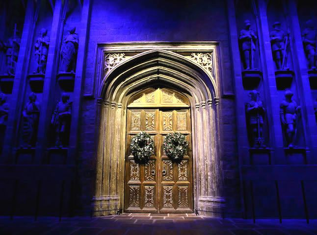 Great Hall doors. Credit@Warnerbros.