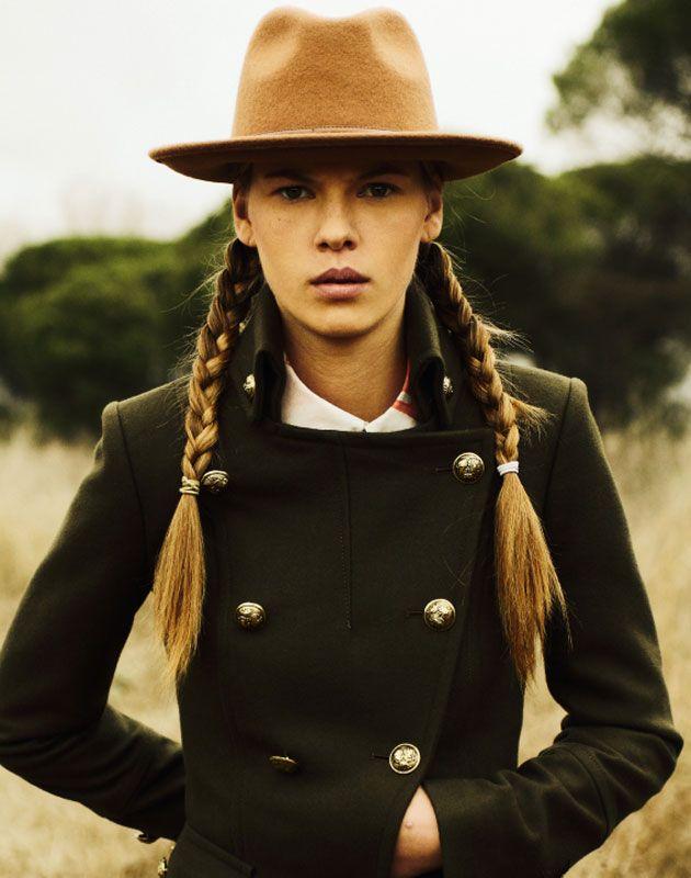 Supplementaire Magazine... Military jacket... Cowgirl vibd