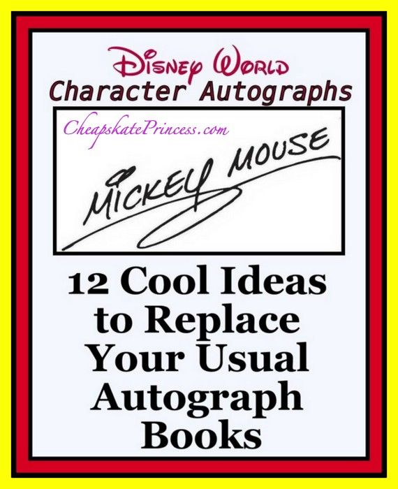 """Looking for an alternative to the """"usual"""" Disney autograph book? Then you'll want to check out these clever ideas!"""