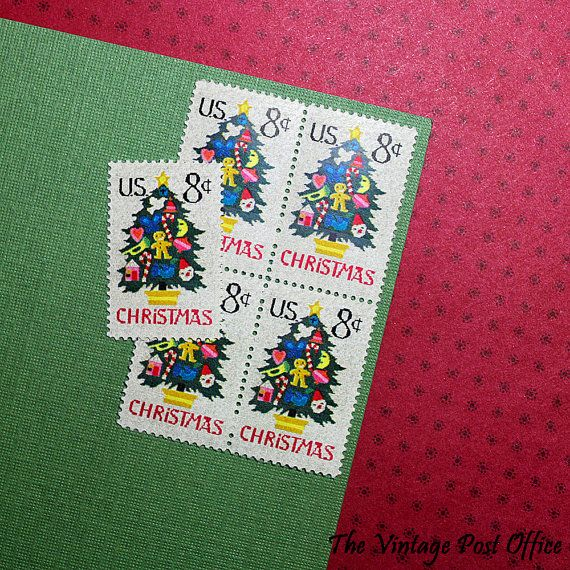 Ten 8c Christmas Tree in Needlepoint .. by TheVintagePostOffice