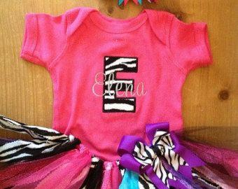 Color de rosa, púrpura, turquesa y cebra chatarra tela tutú traje