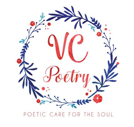 Watercolour logo design - VC Poetry The crest style of this logo is beautiful and creative. The lighter blue gives a little freshness to what could otherwise be a heavy logo.
