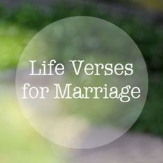 5 Encouraging Life Verses For Marriage --- Life verses are passages of scripture found in the Bible that capture our attention and feed our soul. The are so comforting, they almost seem tangible. God's Words are so powerful! Our church has been covering a sermon series on life verses. … Read More Here http://unveiledwife.com/5-encouraging-life-verses-for-marriage/