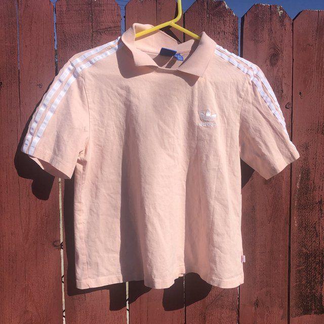 Women's pink Ralph Lauren polo shirt Size Medium, Depop