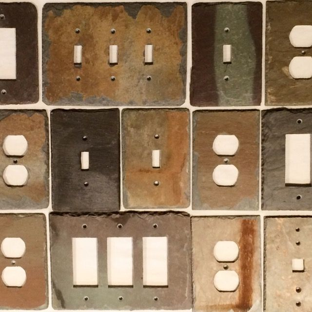 108 best light switch and outlet covers Slate wall plates images ...