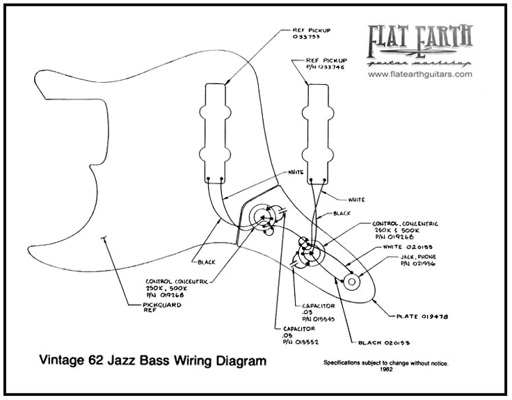 Vintage 62 Jazz bass Wiring Diagram | it's only rock & roll but i like it in 2019 | Fender