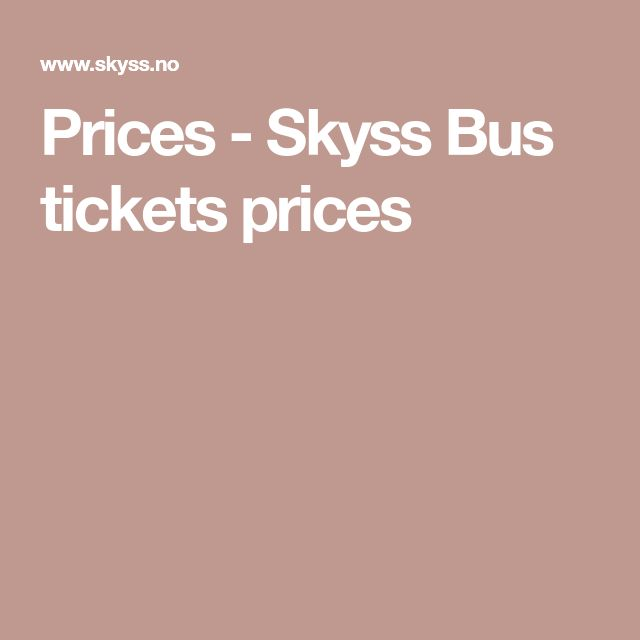 Prices - Skyss    Bus tickets prices