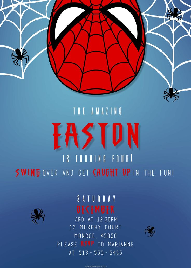Spider Man Invitations   Visit To Grab An Amazing Super Hero Shirt Now On  Sale!