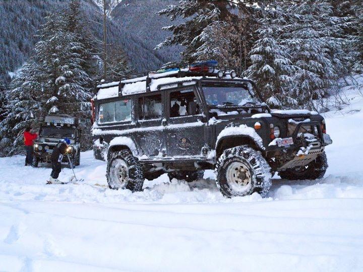 Landrover+snow+ski=win