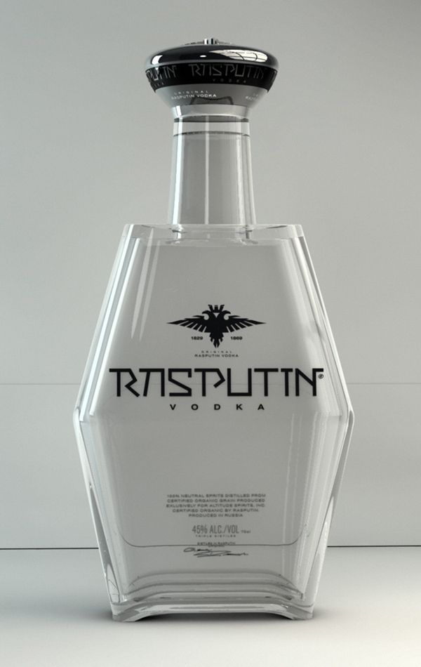 Rasputin Vodka by eleventhworks, via Behance. Great shape on this #vodka #bottle #packaging PD