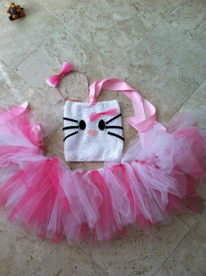Hello Kitty Tutu costume/ halloween/ dress up,.....my little girl would love this!