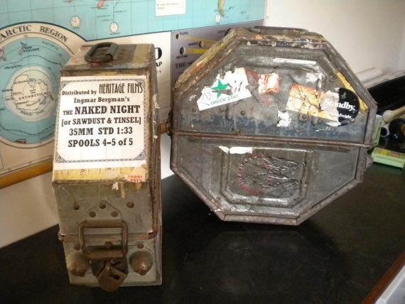 VINTAGE Industrial FILM Reel CANISTER ex Australian Film & Sound Archive