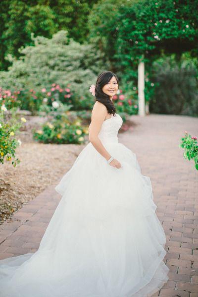 Fluffy gown: http://www.stylemepretty.com/little-black-book-blog/2015/05/11/romantic-fall-wedding-at-south-coast-botanic-garden/ | Photography: Aga Jones - http://www.agajonesphotography.com/