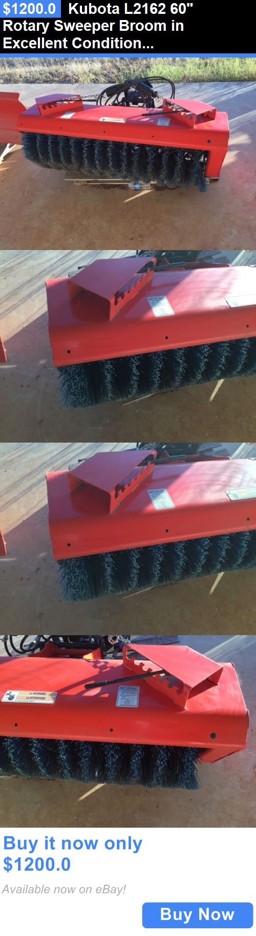 heavy equipment: Kubota L2162 60 Rotary Sweeper Broom In Excellent Condition. Never Used. BUY IT NOW ONLY: $1200.0