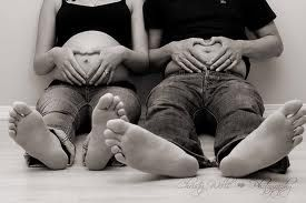 we couldn't have done this photo because the bigger i got, the thinner he got when i was pregnant!