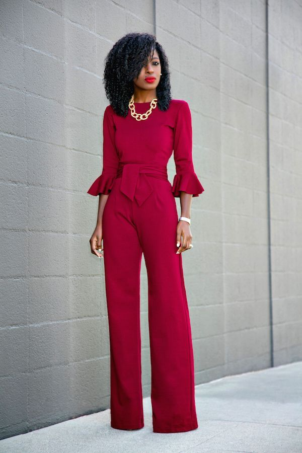 Tendance Chaussures   Frill Sleeves Jumpsuit