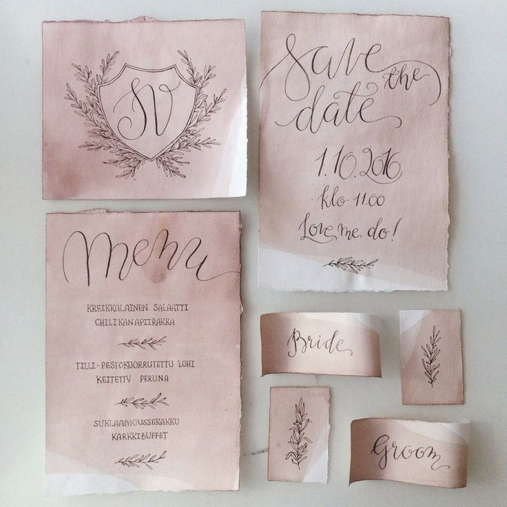 wedding invitation decoration clip art%0A A glimpse into the process This is a quick overview of how I make  watercolor and calligraphy wedding invitations