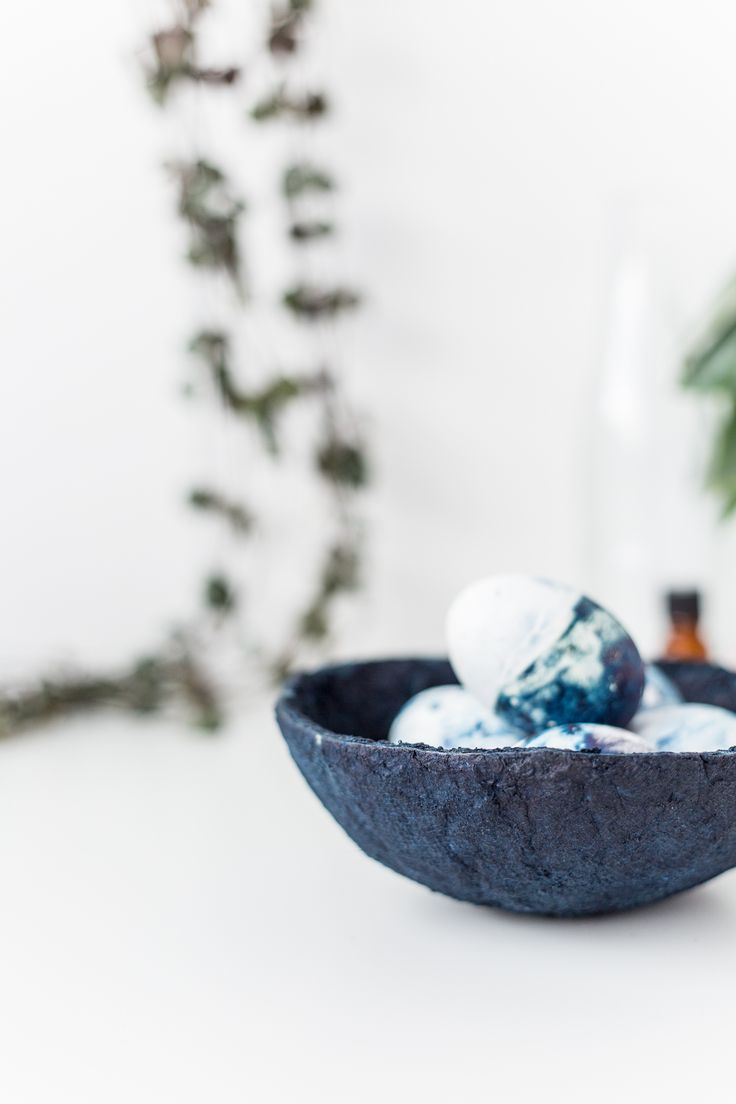 DIY Indigo Paper Bowls Tutorial | www.homeology.co.za