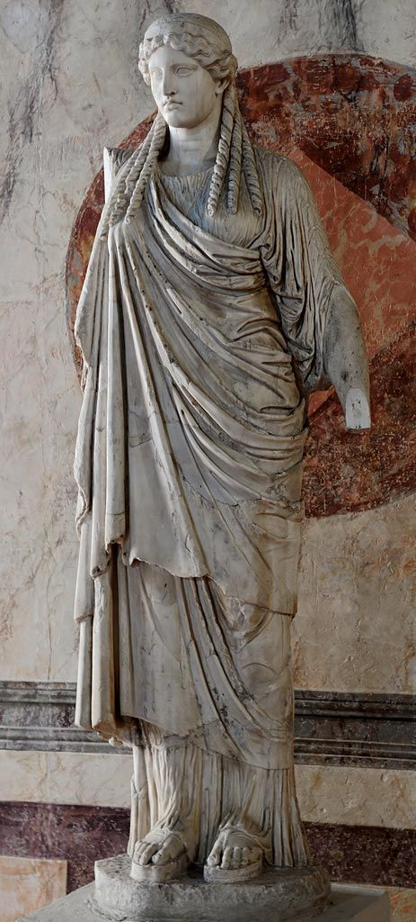 Athena Parthenos - Roman copy of greek original derived from the work by Phidias,  at the Ducal Palace, Mantua