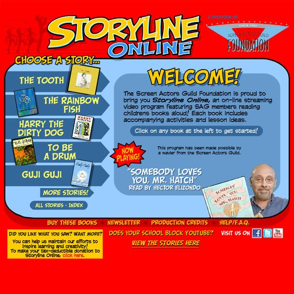 """""""Storyline Online"""" activity, where celebrities read stories to your class!"""