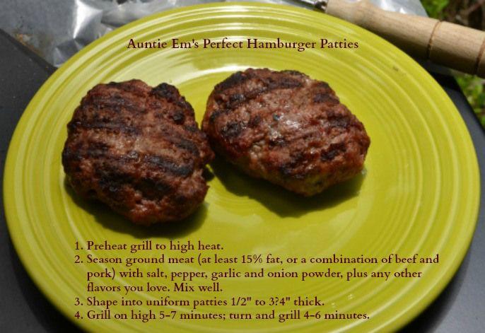 Perfect hamburger patties